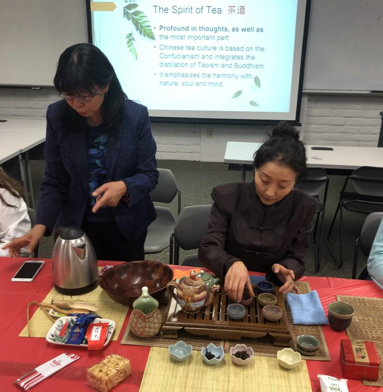 Celebration of National Pengyou Day with a Tea Ceremony and Study Abroad Discussion