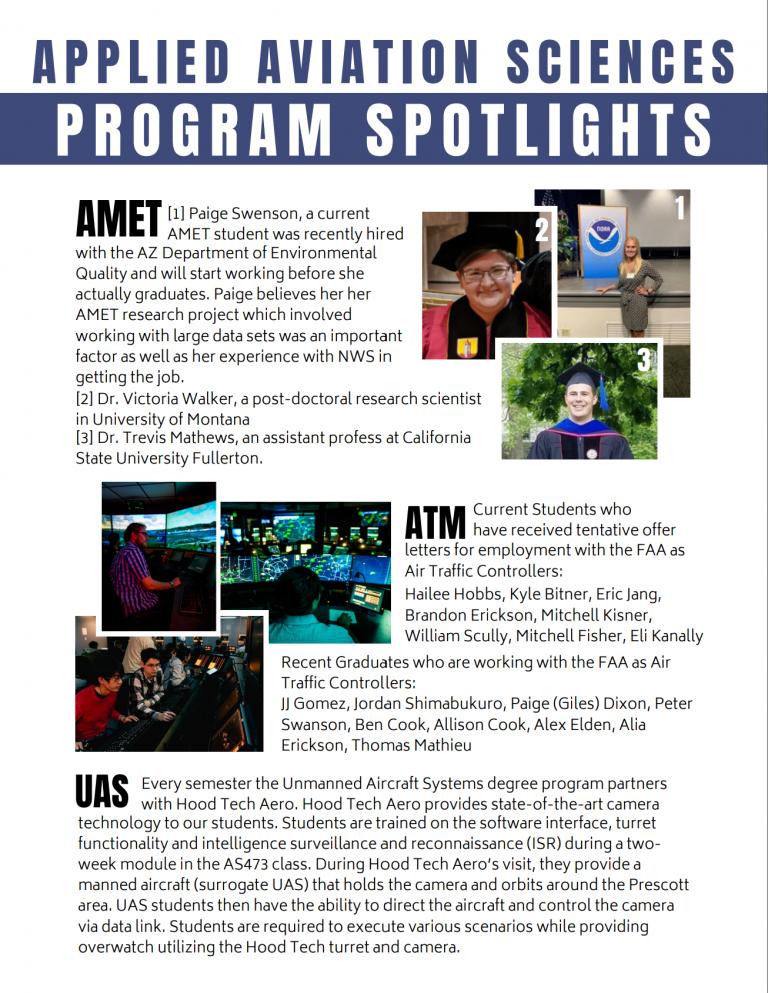 Program Spotlights: Applied Aviation Sciences