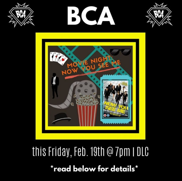 """BCA Hosts Movie Night: """"Now You See Me"""""""